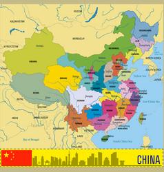 china political map vector image vector image