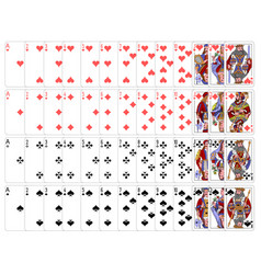 complete playing card set vector image