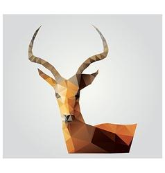Geometric polygon antelope triangle pattern design vector image vector image