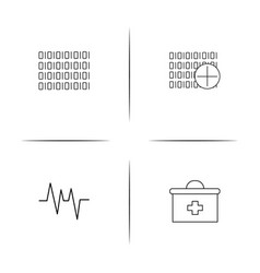 healthcare and medical simple linear icon vector image vector image