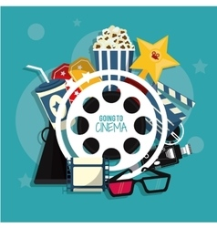 movie film cinema icon graphic vector image vector image