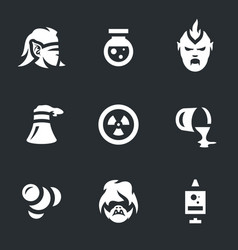set of people mutation icons vector image vector image