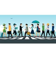 Businessman walking vector image