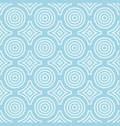 geometric round shape seamless pattern vector image