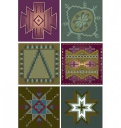 primitive tribal patterns vector image vector image
