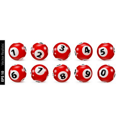 red lottery number balls isolated vector image