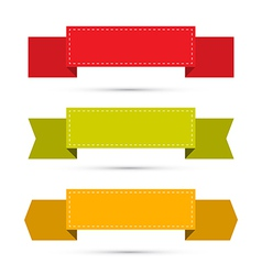 Retro Ribbons Labels Tags Set Isolated on White vector image vector image