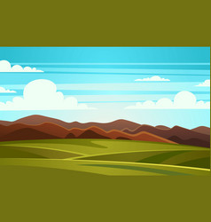 summer landscape mountain vector image
