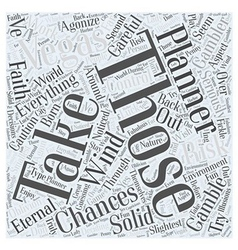 Vegas for the eternal planner word cloud concept vector