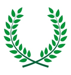 Award Laurel Wreath Winner Leaf label Symbol of vector image