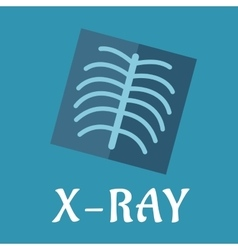 Blue medical flat x-ray icon vector image