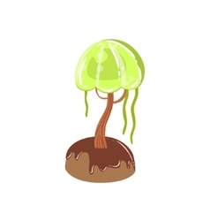 Chocolate Swamp Tree With Jelly Crown Fantasy vector image vector image