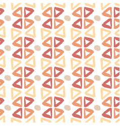 ethnic hand drawn pattern with triangle ink vector image vector image