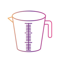 jar with handle and measure scale silhouette vector image