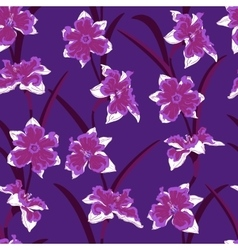 Narcissus seamless pattern vector
