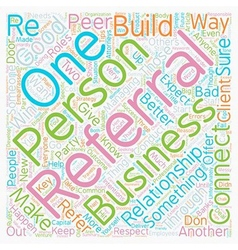 Rules Of Business Referral Etiquette text vector image