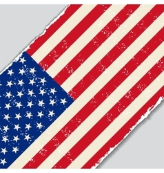 American grunge flag vector image vector image