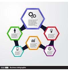 Conceptual Design template infographics elements vector image