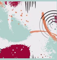 dymanic brush stroke pattern pastel vector image vector image