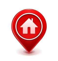 Home Icon Pin vector image vector image