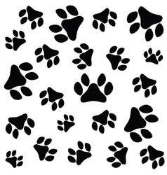 paw print seamless vector image
