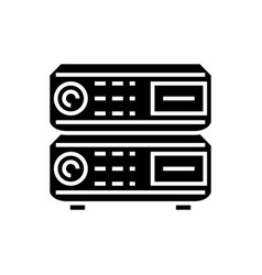 router icon black sign on vector image vector image