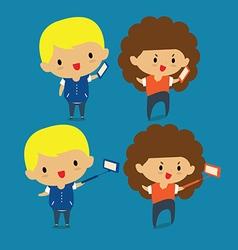 Selfie Photo on Smart Phone vector image