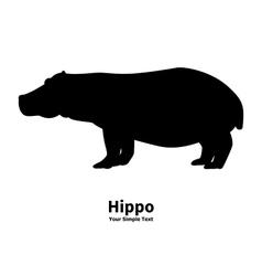 Silhouette of a hippopotamus vector