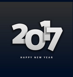 2017 happy new year lettering in 3d style vector image