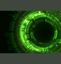 Abstract green digital communication technology vector