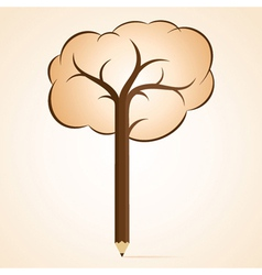 abstract pencil tree vector image