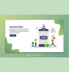 Advertising concept with tiny people character vector