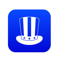 american hat icon digital blue vector image