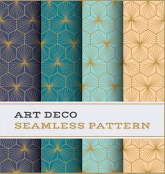 art deco seamless pattern 40 vector image