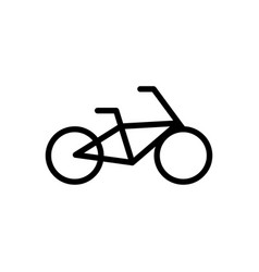 bicycle outline icon vector image