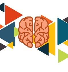 Brain In Flat Design vector image
