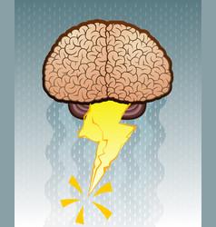 Brain storm cartoon vector