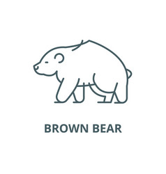 brown bear line icon brown bear outline vector image