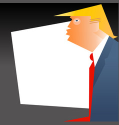 caricature of president donald trump vector image