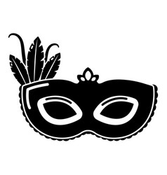 carnival mask icon simple black style vector image