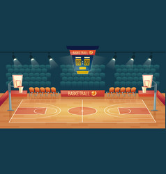 cartoon background empty basketball vector image