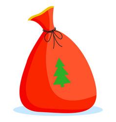 christmas poster card bag with fir-tree vector image