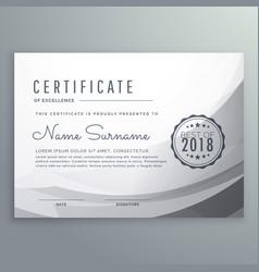 Clean gray diploma certificate design template vector