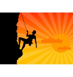 climber vector image