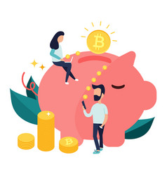 Concept design of cryptocurrency technology vector