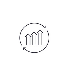 Continuous growth line icon vector