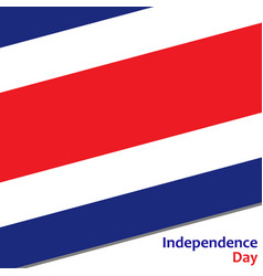 Costa rica independence day vector