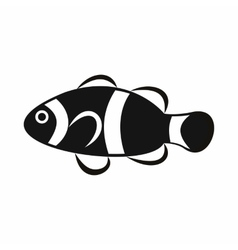 Cute clown fish icon simple style vector image