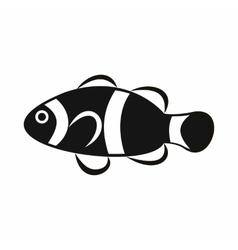 Cute clown fish icon simple style vector