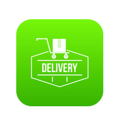 delivery icon green vector image